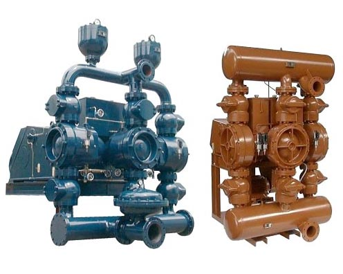 single-acting triplex piston diaphragm pumps type TKM900 and TKM 500