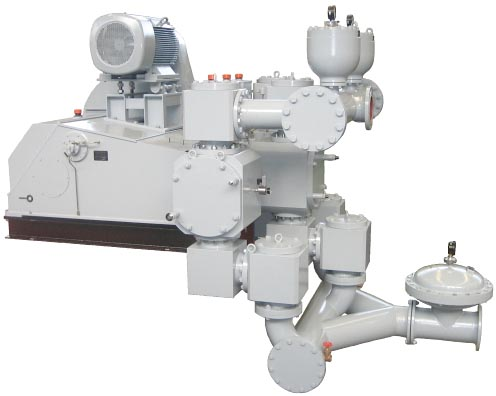 single-acting triplex piston diaphragm pump type TKM900R